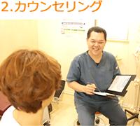 岩倉市交通事故むち打ち施術専門院 ハンズ治療院のカウンセリング